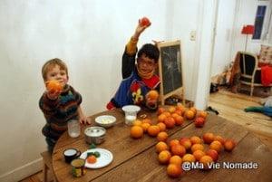 Total des oranges récoltées