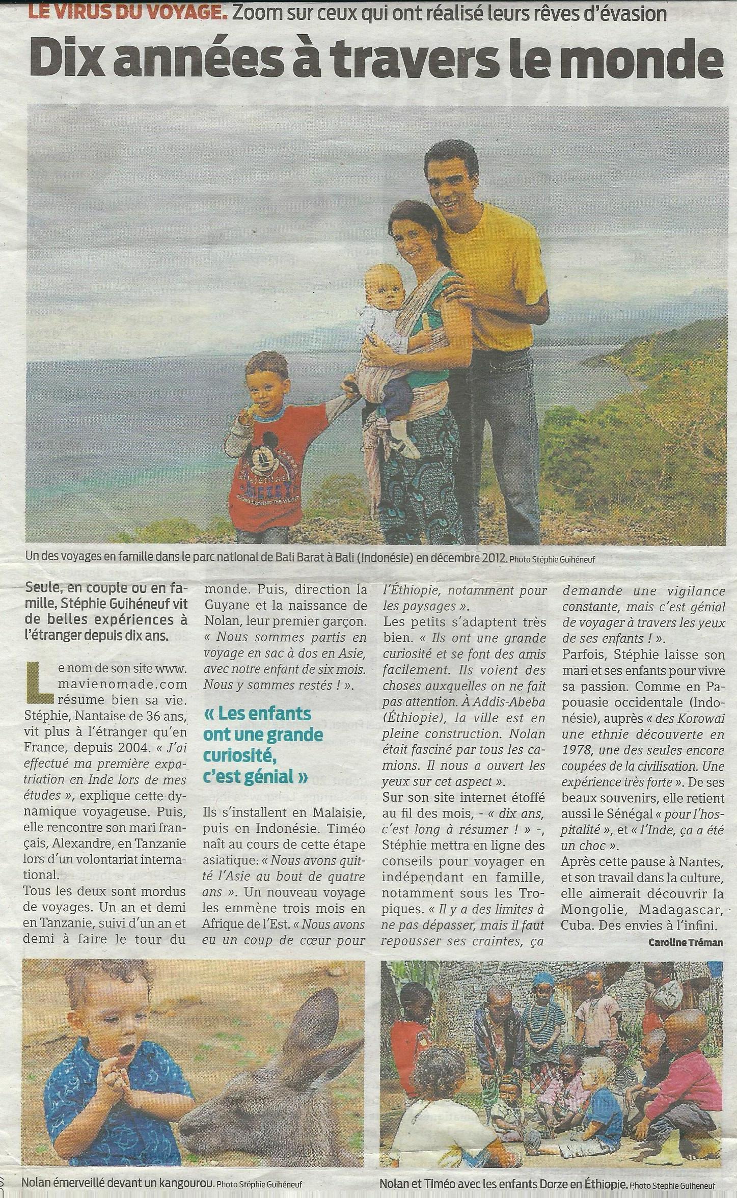 article Presse Océan mardi 29 décembre 2015