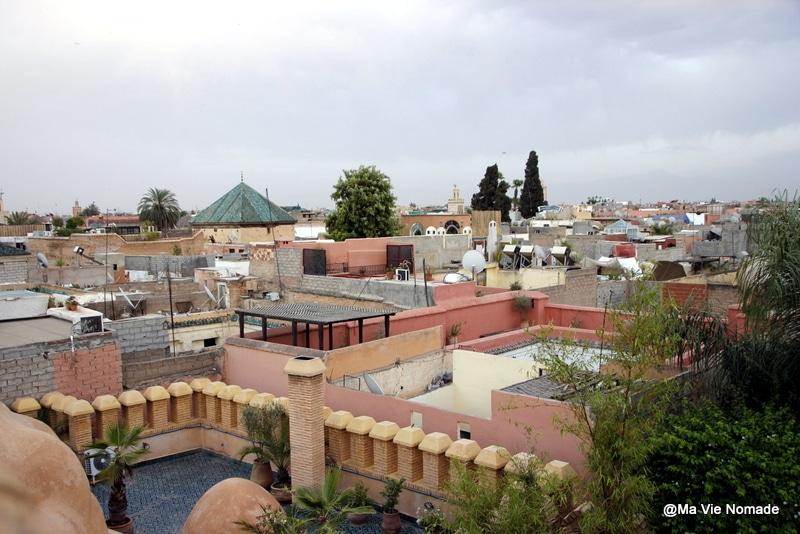 vue de la medina depuis le toit de la terrasse du yacout