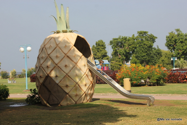 Toboggan au parc Riyam